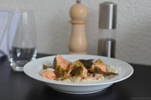 Rezept: Maccha-Lachs mit Kokosreis