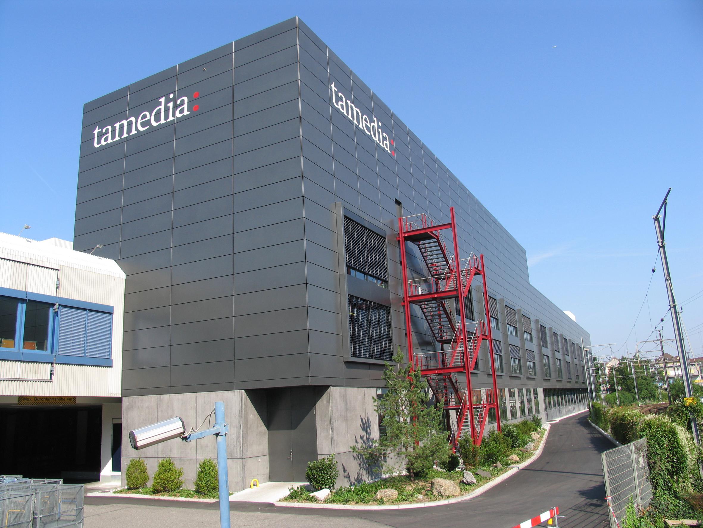 Das Druckzentrum Bubenberg der Tamedia AG.