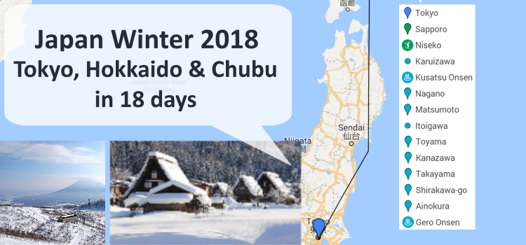 Japan 2018 – Itinerary Update