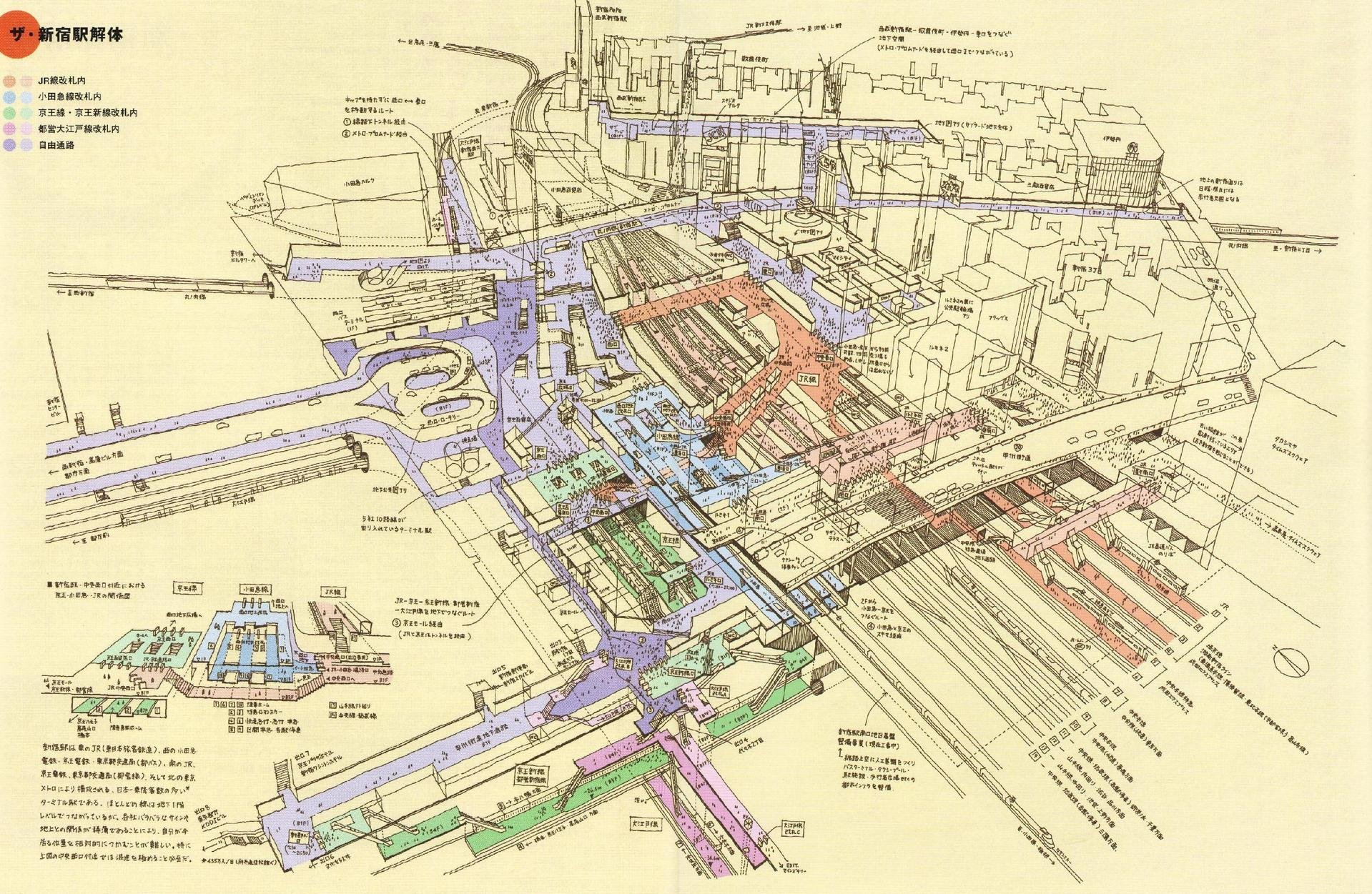 Map of Shinjuku Station