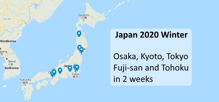 Japan 2020 Winter: Itinerary